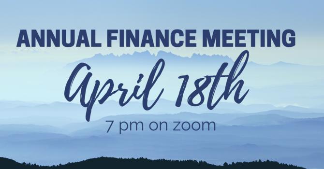 Annual Finance Meeting