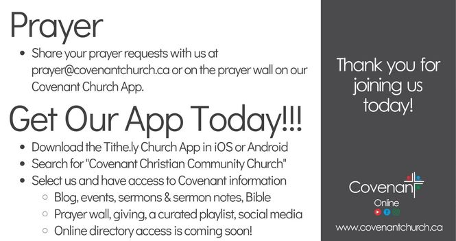 Covenant Online - Sunday Service
