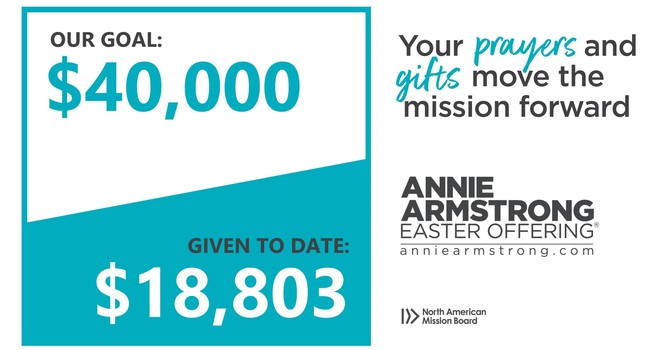SMRBC gives $18,803 in progress towards $40,000 Annie Armstrong Goal image
