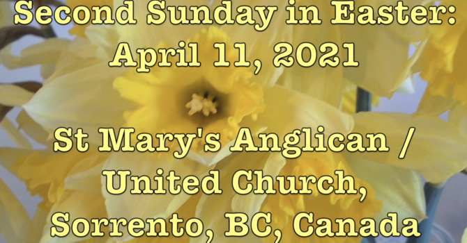 Second Sunday in Easter at St. Mary's... image