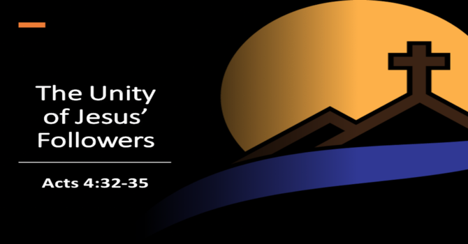 The Unity of Jesus's Followers