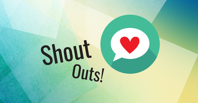 Shout out your shout-outs!  image