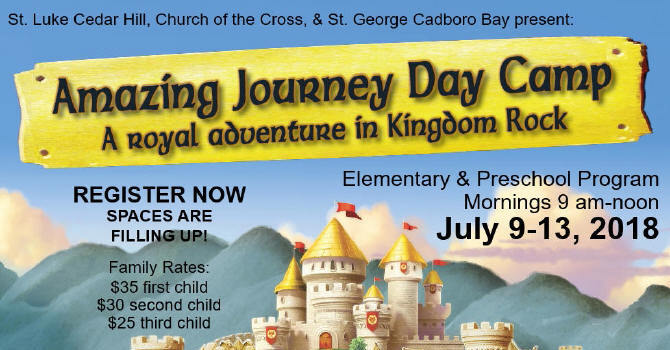 Amazing Journey Day Camp - Still Spaces Available! image