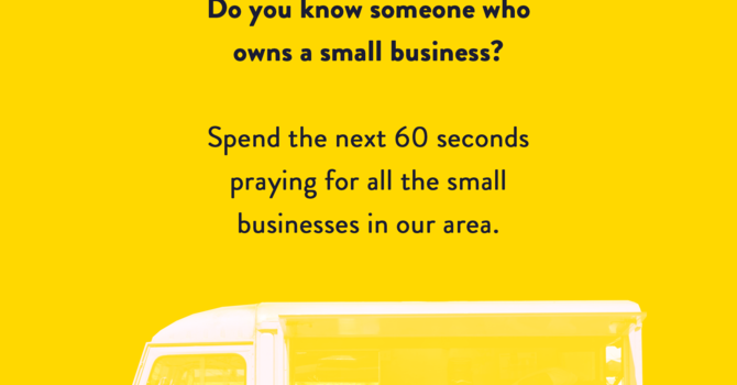 Worship Wednesday: Praying for our Small Businesses image