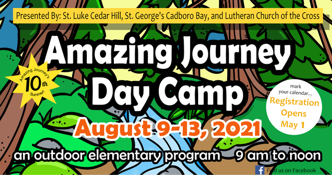Save the Dates - The Amazing Journey Day Camp 2021