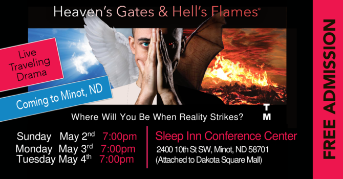 Volunteers needed for Heaven's Gates and Hell's Flames Live Drama