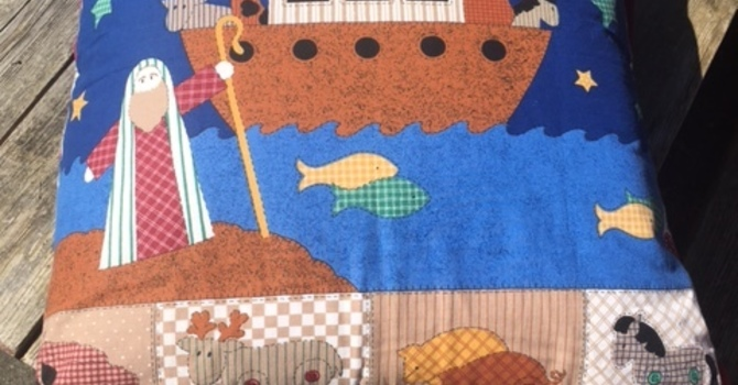 Noah's Ark pillow