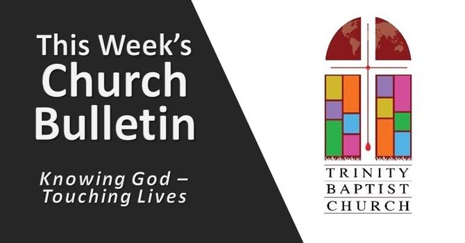 Weekly Bulletin - April 18, 2021