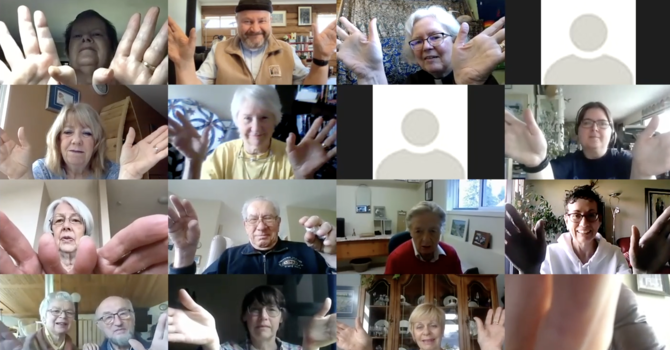 Joining hands (virtually) at St Mary's... image