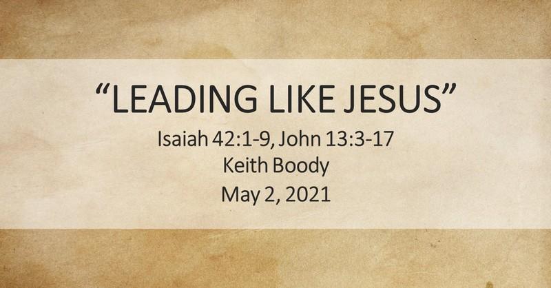 Leading Like Jesus