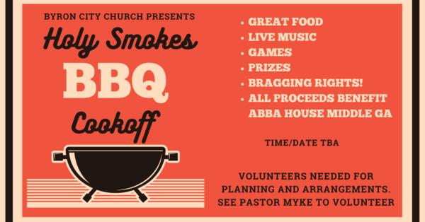 Holy Smokes BBQ Event