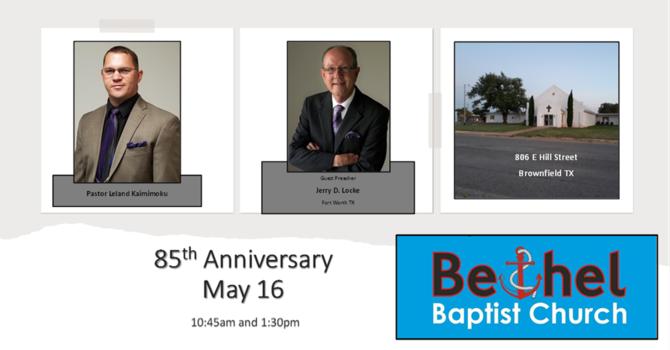 85th Anniversary Celebration Services