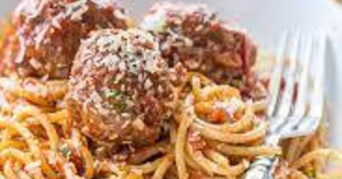 Take Away Homemade Spaghetti & Meatballs Dinner