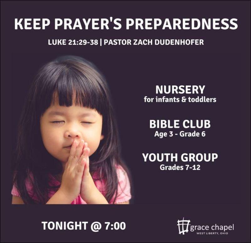 Keep Prayer's Preparedness