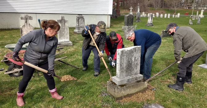 Christ Church Cemetery gets a Facelift in the Anglican Parish of Woodstock!! image