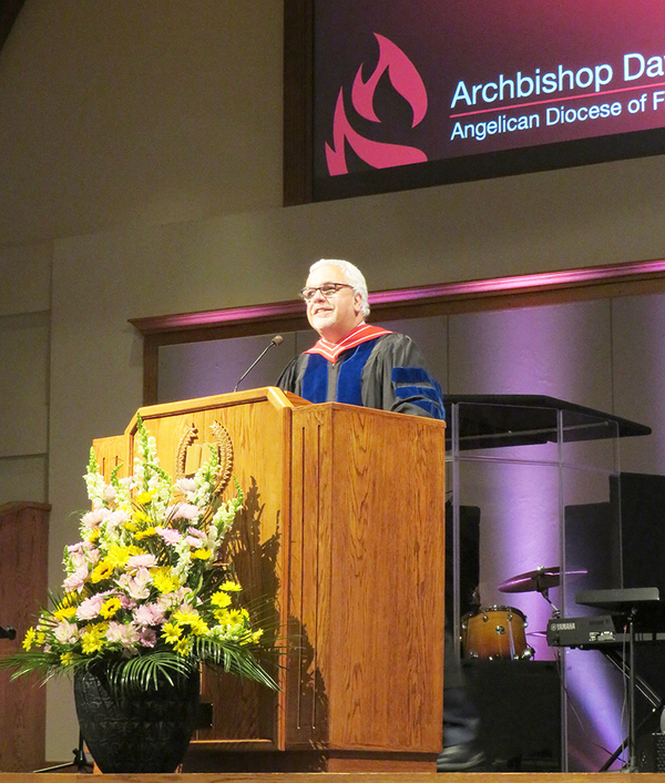 Archbishop delivers commencement address at Kingswood University