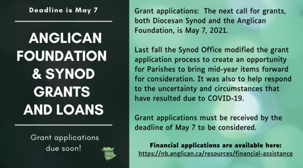 Diocesan grant deadline is May 7