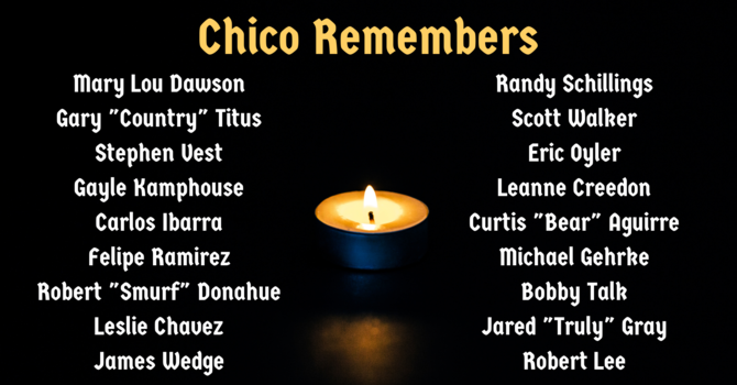 Memorial for the Unhoused in Chico image