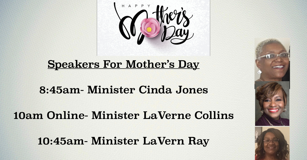 Mother's Day Speakers