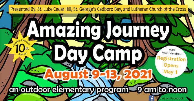 Amazing Journey Day Camp - registration now open image