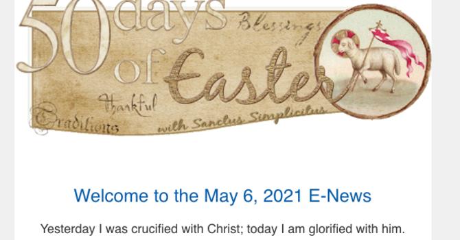 Link to May 6 E-News image