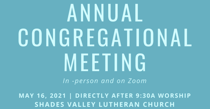Annual Congregation Meeting