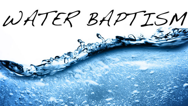 The Gift of Water Baptism