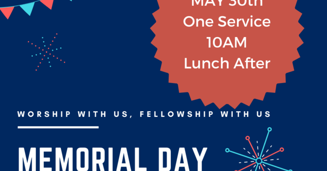 Memorial Day Service and Potluck