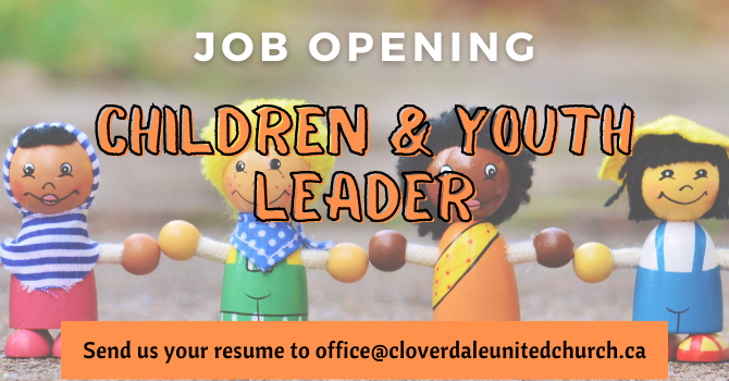 Job Opening - Children & Youth Leader image