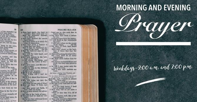 Morning and Evening Prayer